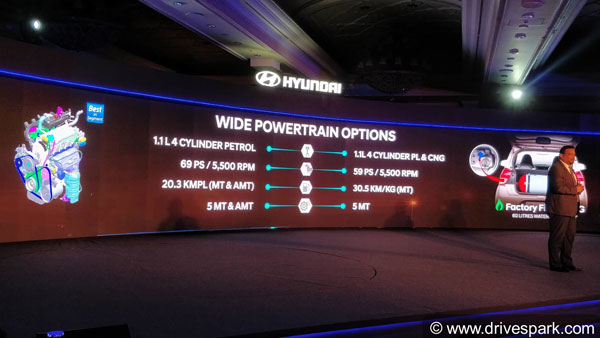 New Hyundai Santro Engine Specifications