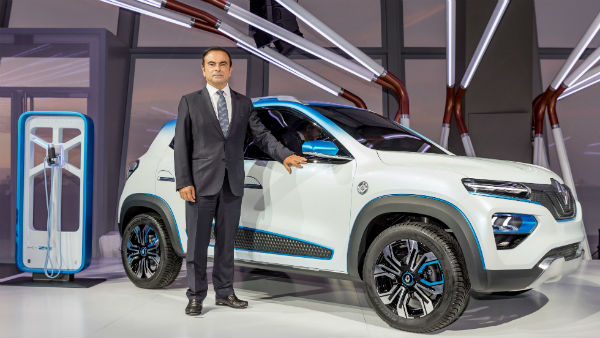 Renault Kwid Electric K-ZE Concept Revealed At 2018 Paris Motor Show
