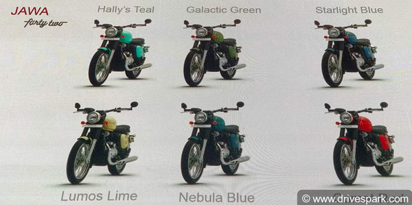 The Jawa 42 Gets Six Colours
