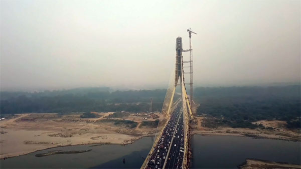 Signature Bridge In Delhi Finally Open: Here's A Cool Drone Video Of The Delhi Signature Bridge