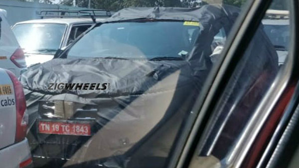 Renault Kwid MPV Spied Testing: To Rival The Datsun GO+