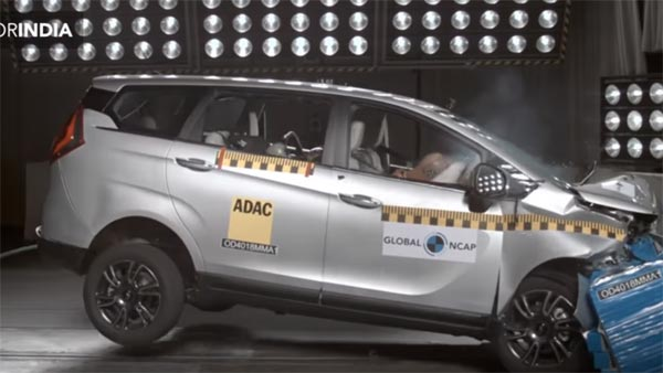 Mahindra Marazzo Crash Test (Global NCAP) Result — Gets Four-Star Safety Rating