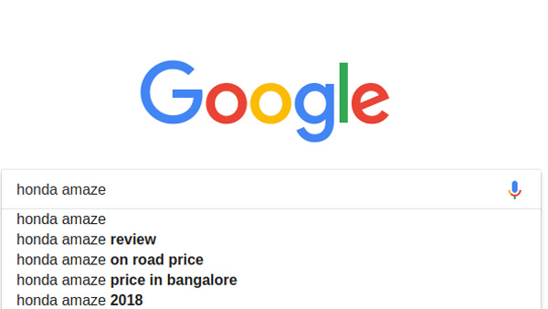 Most Searched Cars In India 2018 — Honda Amaze Becomes Google's Top Trending Car In India