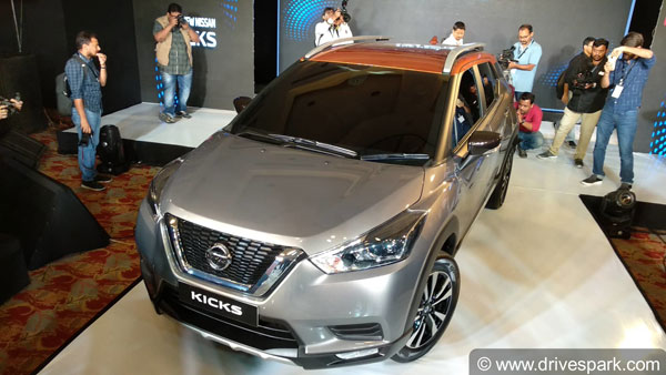 Nissan Kicks Bookings Open Across Dealerships; Online Bookings Closer To Launch In January