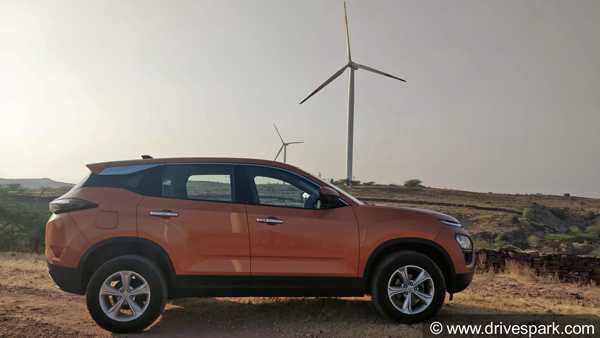 Tata Harrier Image Gallery — The Tata Harrier Has The Quirkiest Handbrake Lever Ever!