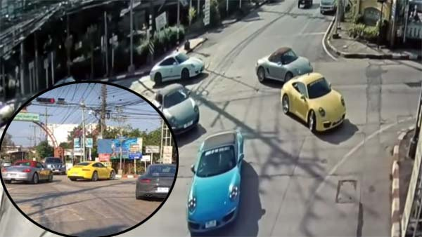 Porsche Convoy Blocks Traffic In Thailand — Video Shows 32 Porsches Jumping Red Light In Thailand