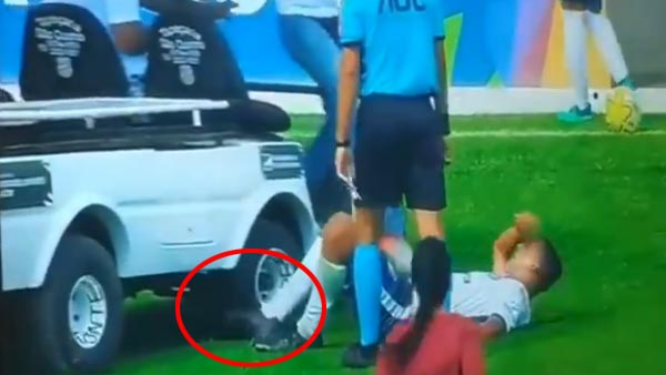 Football Video Becomes Viral After A Medical Kart Runs Over An Injured Player's Leg