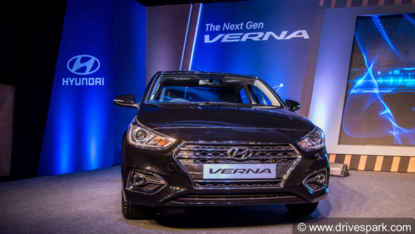 hyundai verna facelift spotted testing: launch in 2020