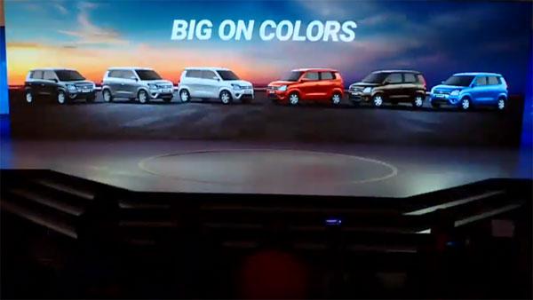 New Maruti Wagon R 2019 —  Colours