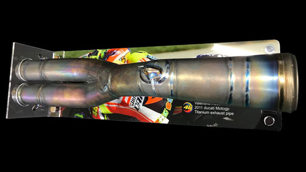 Valentino Rossi's Ducati Exhaust System Up For Sale At Rs 2.23 Lakh