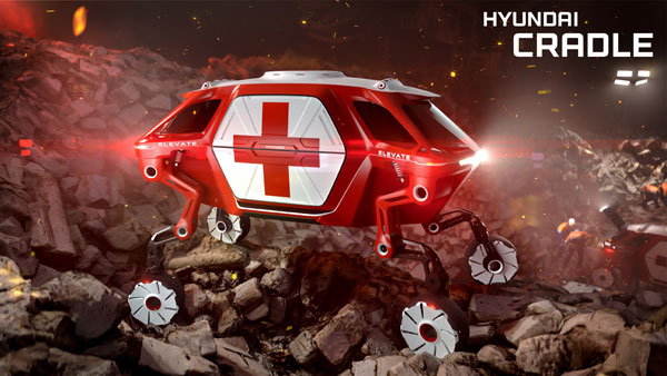 Hyundai Elevate: The Walking Car Concept From Hyundai Cradle