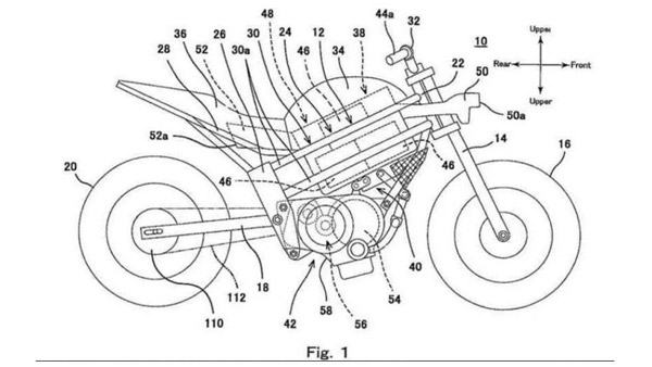 Kawasaki Electric Bike Patent Images
