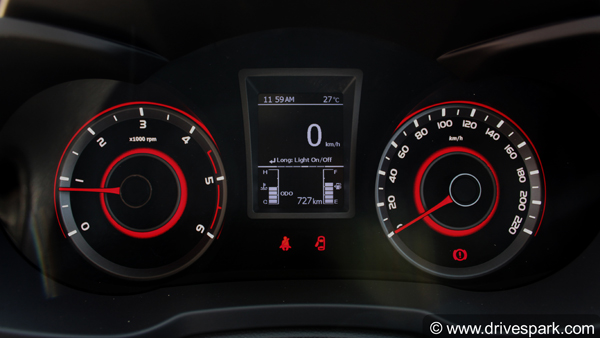 mahindra xuv300 instrument cluster