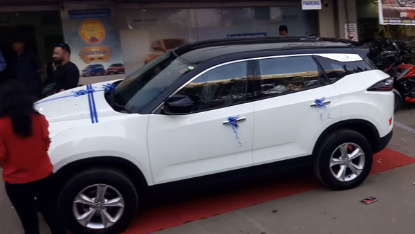 Tata Harrier Modified By Dealership — White/Black Dual-Tone Colour Scheme Looks Good