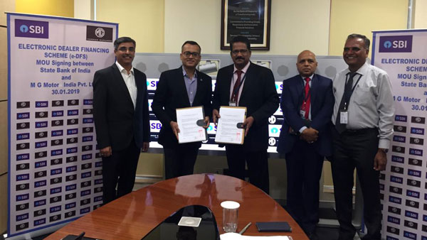 MG Motor & SBI Partnership