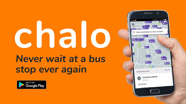 Public Transport Buses Location-Tracking: 'Chalo' App