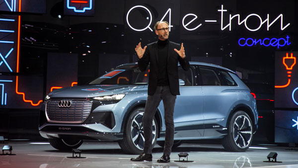 audi q4 e-tron concept revealed at geneva motor show