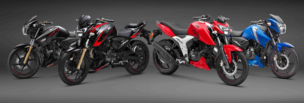 tvs apache lineup with abs