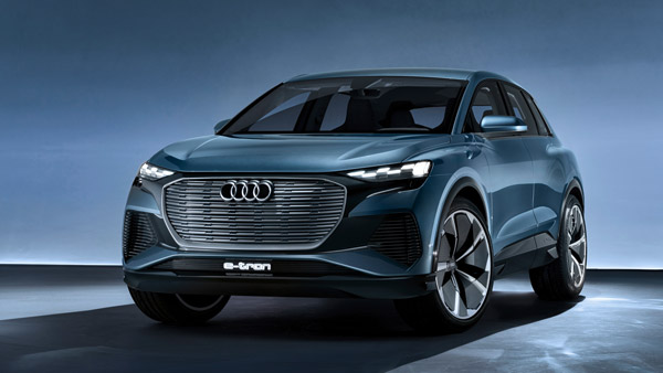 audi q4 e-tron concept front three quarter profile