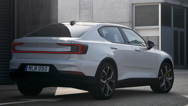 polestar 2 rear three quarter profile