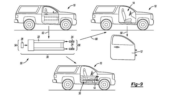 ford bronco removable doors patent