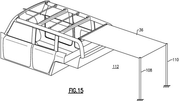 ford bronco removable roof patent