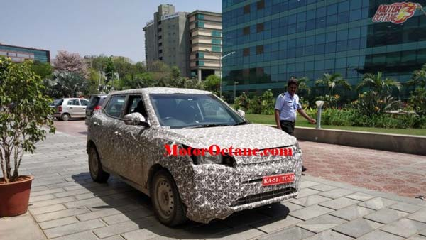 Mahindra XUV 300 Electric SUV Spotted Testing