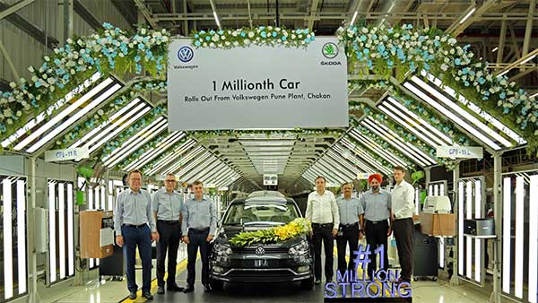Volkswagen Announces A New Production Milestone — VW Rolls Out Its One Millionth Car In India