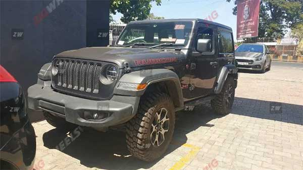 Jeep Wrangler Rubicon Spotted Testing
