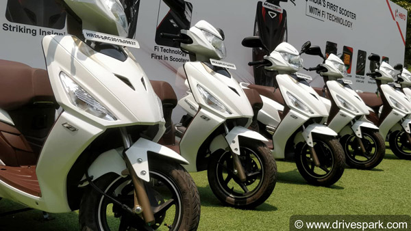 Hero scooters sales