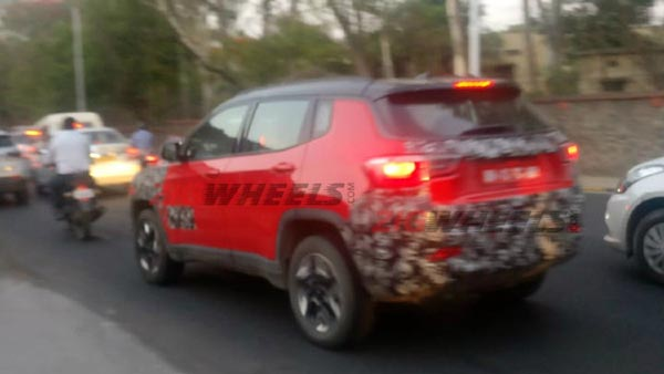 Jeep Compass Trailhawk Spotted Testing