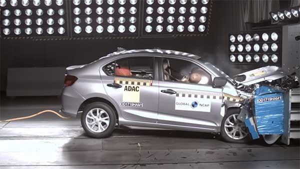 Made In India Honda Amaze Gets Four Star Safety Rating