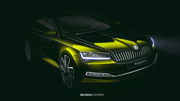 Skoda Superb Facelift Official Sketches Revealed