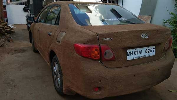 Toyota Corolla Owner Gets Car Wrapped In Cow Dung