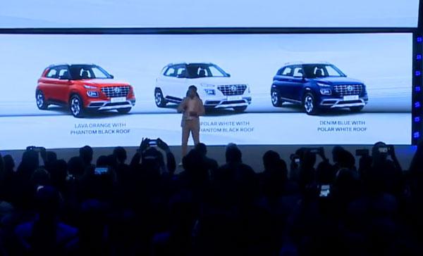 Hyundai Venue — Colours