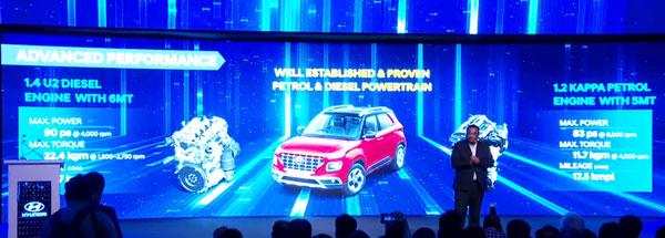 Hyundai Venue — Engine Specs