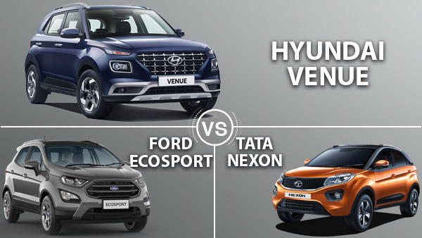 Hyundai Venue Vs Ford EcoSport Vs Tata Nexon — Which Will Come Out On Top?