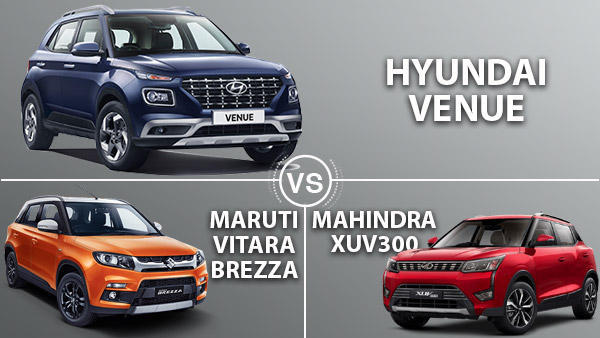 hyundai venue vs maruti suzuki vitara brezza vs mahindra xuv300 comparison