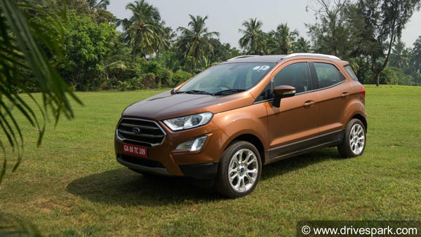 Ford Ecosport Variants Get Shuffled Titanium Loses Out On Several