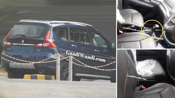 New Maruti Xl6 Interior Spy Pics New 6 Seater Premium Mpv Based On