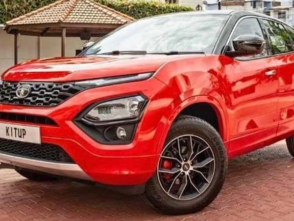 Tata Harrier Painted In Range Rover Red By Kitup Automotive