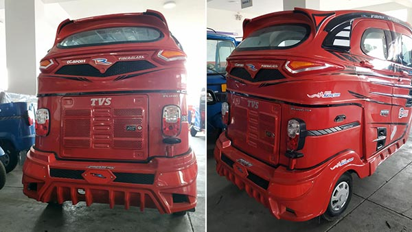 TVS King Auto Rickshaw Modified With Sunroof Four Doors And Six Speakers