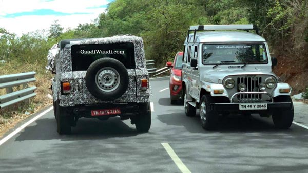 2020 Mahindra Thar Snapped Testing On The Indian Roads