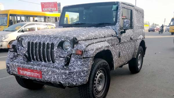 The Mahindra Thar 2020 Production Version Spied Ahead Of Launch Early Next Year