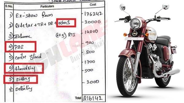 Image result for jawa bike dealership handling charge