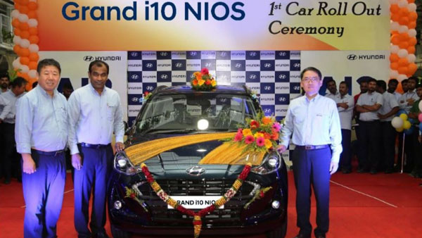 Hyundai Rolls-Out First Grand i10 Nios From Production Line In India