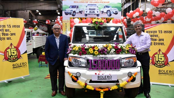 Mahindra Bolero Pick-Up Range Crosses 15 Lakh Production Units Milestone
