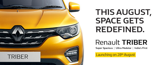 Renault Triber Bookings & Launch Date Confirmed For August 2019