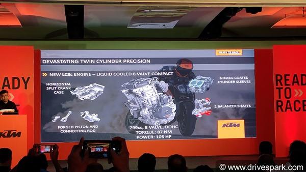 KTM Duke 790 Engine Specs