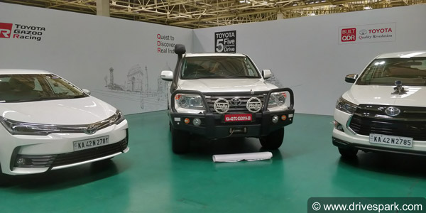 Toyota Five Continents Drive 2019: India To Vietnam Expedition Flagged Off In Bangalore